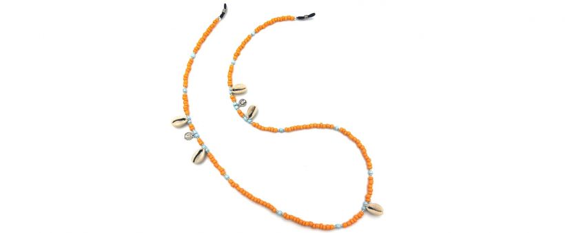Boho Beach Sunny Necklace - Orange Blue