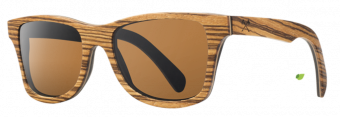 Shwood Canby (Select): Zebrawood / East Indian Rosewood - Brown Polarized
