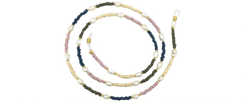 Boho Beach Sunny Necklace - Beaded Pearl Sunny Necklace Earth Tones